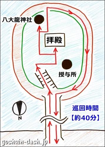 竹島八百富神社(愛知県蒲郡市)巡回マップ