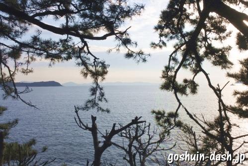 竹島(愛知県蒲郡市)竜神岬からの眺め(三河湾・三河大島)