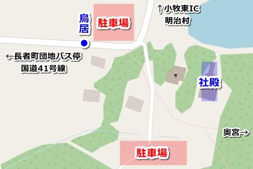 尾張冨士大宮浅間神社(愛知県犬山市)駐車場マップ(地図)