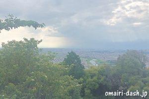 東谷山頂(尾張戸神社)からの眺め