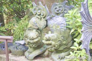 間々観音(愛知県小牧市)飾り瓦(狛犬)