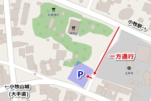 小牧神明社(愛知県小牧市)駐車場マップ