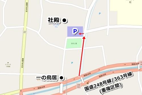 深川神社(愛知県瀬戸市)駐車場マップ