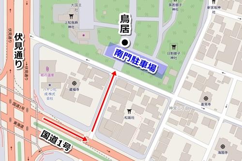 熱田神宮南門駐車場マップ