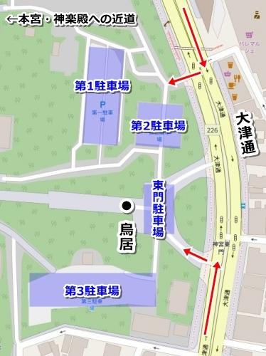 熱田神宮東門駐車場マップ
