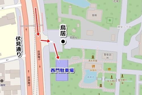 熱田神宮西門駐車場マップ