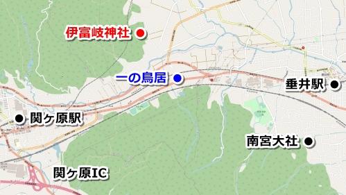 伊富岐神社(岐阜県不破郡垂井町)アクセスマップ