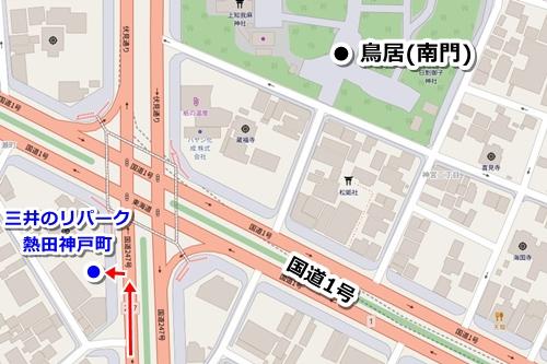熱田神宮周辺の安い駐車場(三井のリパーク熱田神戸町)