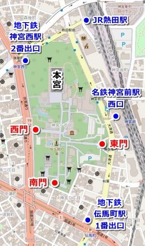 熱田神宮アクセスマップ