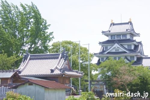 墨俣一夜城と白髭神社(岐阜県大垣市墨俣町)