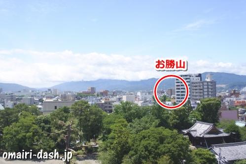 お勝山(大垣城展望室からの眺め)