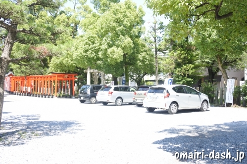 大垣八幡神社(岐阜県大垣市)境内無料駐車場