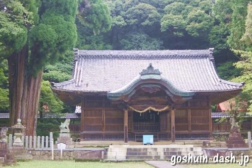 伊富岐神社(岐阜県不破郡垂井町)の拝殿と大杉