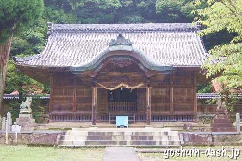 伊富岐神社(岐阜県不破郡垂井町)拝殿