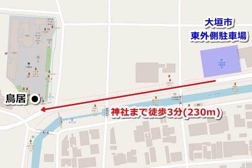 大垣市東外側駐車場マップ
