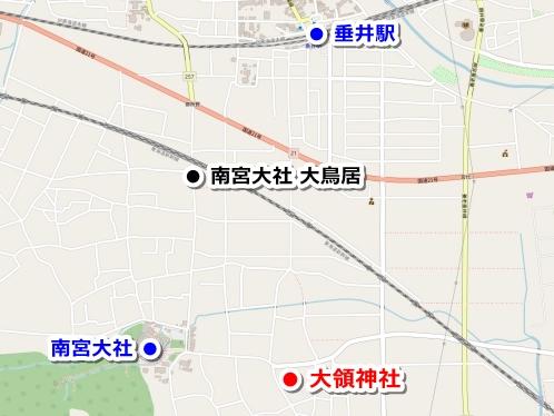 大領神社アクセスマップ