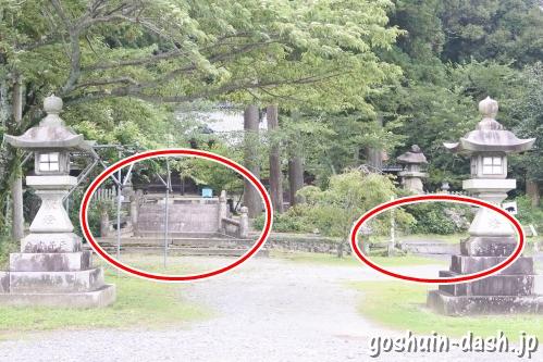 伊富岐神社(岐阜県不破郡垂井町)二本の橋