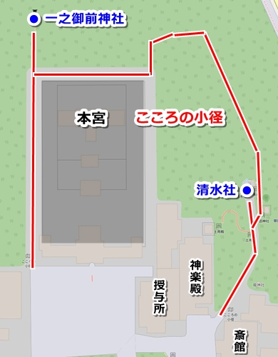 熱田神宮こころの小径マップ