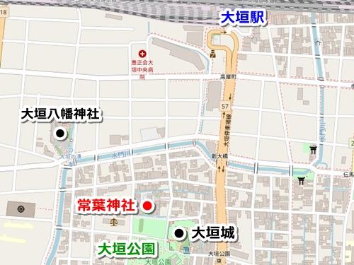 常葉神社(岐阜県大垣市)アクセスマップ