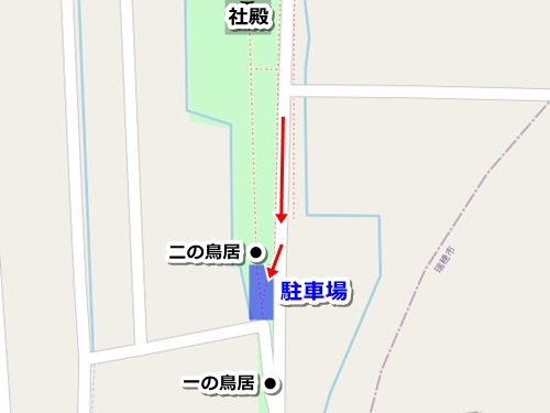 結神社(岐阜県安八町)駐車場マップ