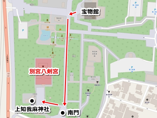 熱田神宮の観光モデルコース(見どころ8.別宮八剣宮)