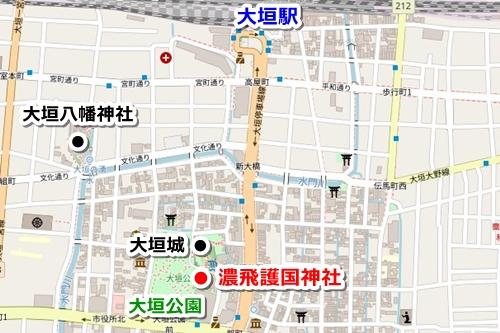濃飛護国神社(岐阜県大垣市)アクセスマップ