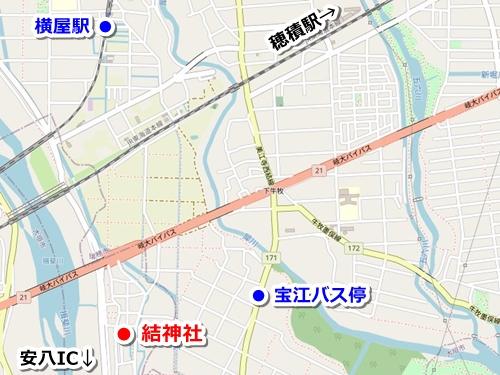 結神社(岐阜県安八町)アクセスマップ