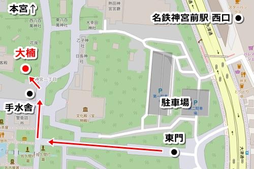 熱田神宮の観光モデルコース(見どころ1.大楠)