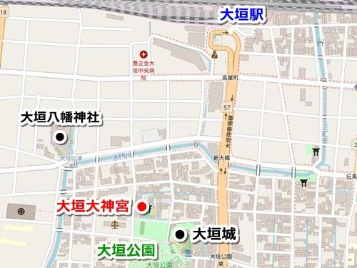 大垣大神宮(岐阜県大垣市)アクセスマップ