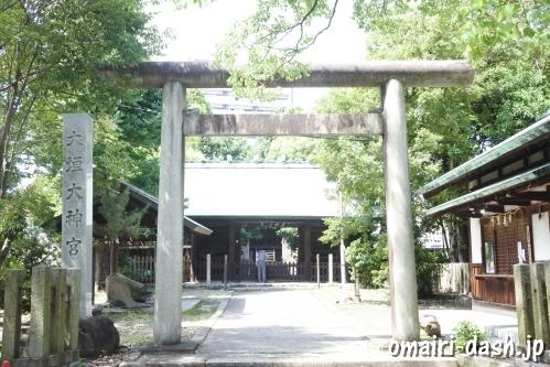 大垣大神宮(岐阜県大垣市)鳥居と社号標