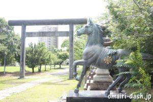 濃飛護国神社(岐阜県大垣市)神馬