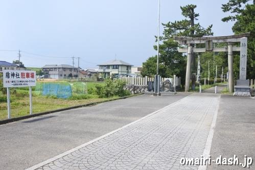 結神社(岐阜県安八郡安八町)駐車場