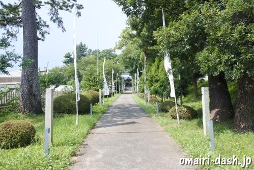 結神社(岐阜県安八町)参道