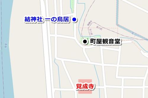 金剛山覚成寺(岐阜県安八町)アクセスマップ