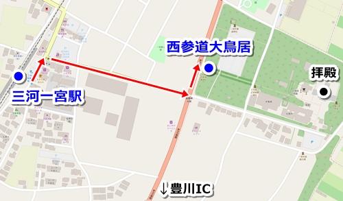 砥鹿神社(愛知県豊川市)アクセスマップ