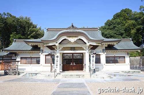 三好八幡社(愛知県みよし市)拝殿