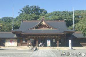 砥鹿神社(愛知県豊川市)拝殿(御本社)