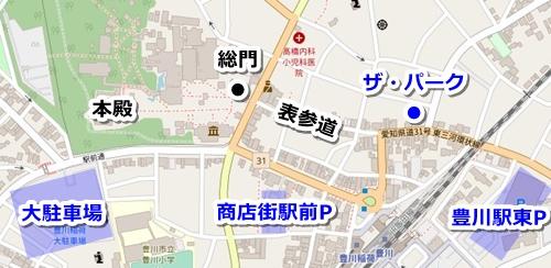豊川稲荷駐車場マップ