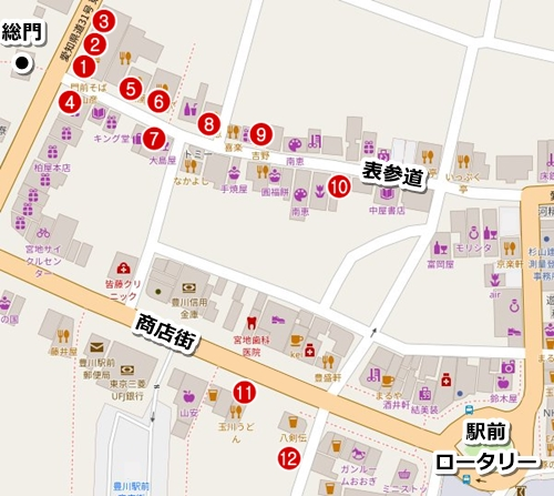 豊川稲荷(愛知県豊川市)食べ歩きグルメマップ