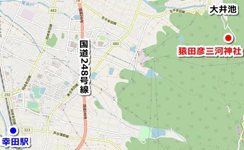 猿田彦三河神社(愛知県幸田町)アクセスマップ