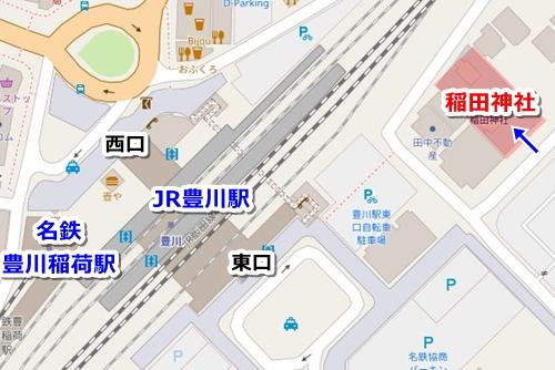 稲田神社(愛知県豊川市)アクセスマップ