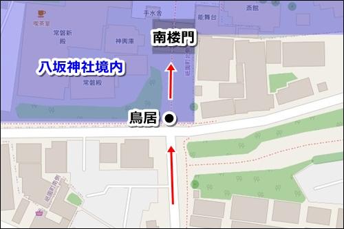 清水寺から八坂神社への徒歩ルート04