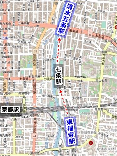 京都駅から清水寺への電車でのアクセス02