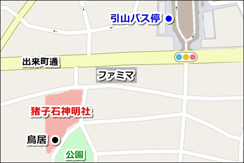 猪子石神明社(名古屋市名東区)アクセスマップ