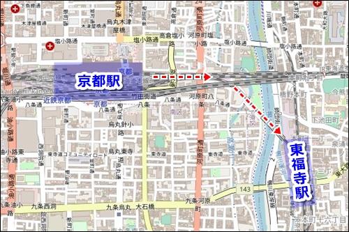 京都駅から清水寺への電車でのアクセス01