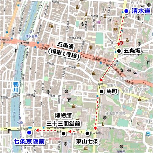 清水寺から伏見稲荷大社へのアクセス(バスのみ)02