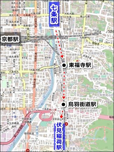 清水寺から伏見稲荷大社へのアクセス(バスと電車)03