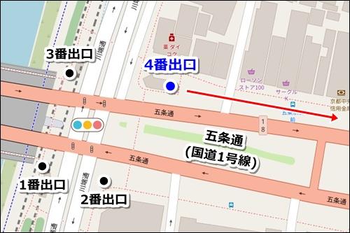 清水五条駅から清水寺への徒歩ルート01