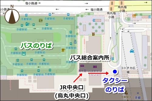 京都駅タクシーのりばマップ