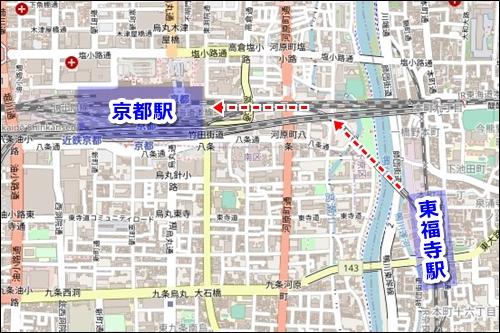 清水寺から京都駅への電車でのアクセス03